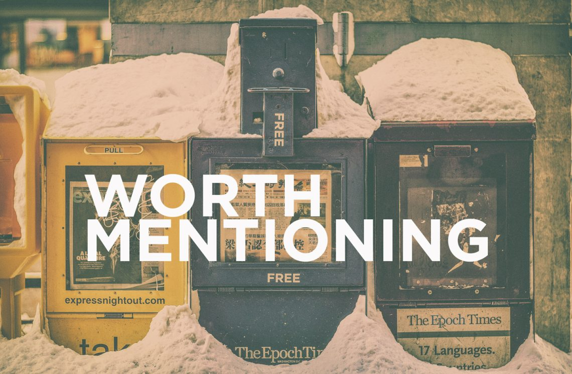 Worth Mentioning – December 12